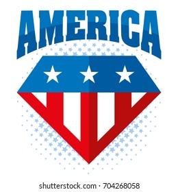 United states of America Vector Superhero logo USA