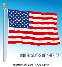 United States of American, official national flag, USA, vector illustration