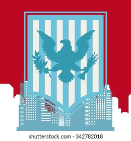 United States concept with New York design, vector illustration 10 eps graphic