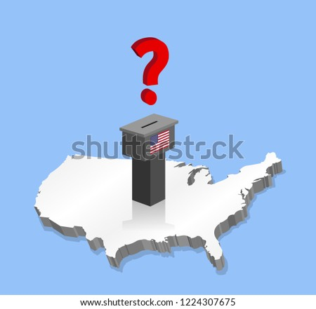 United States Election Results Question Mark Stock Vector (Royalty ...
