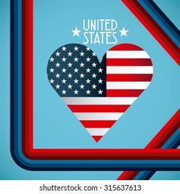 united states emblem design, vector illustration eps10 graphic