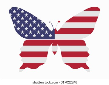 united states flag butterfly