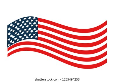 United states flag design