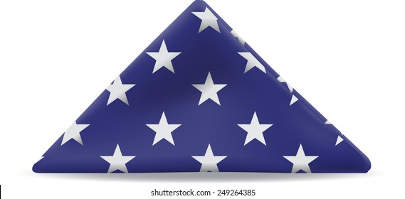 United States Flag folded in a triangle.