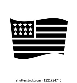 United States flag icon. Trendy United States flag logo concept on white background from Country Flags collection. Suitable for use on web apps, mobile apps and print media.