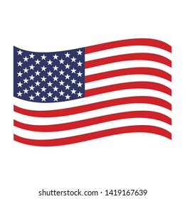 The united states flag icon vector symbol