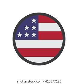 United States Flag Illustration - Flat Icon