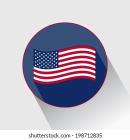 United States flag perfect for icon with shadow vector