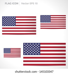 United states flag template | vector symbol design | color red white and blue  | icon set