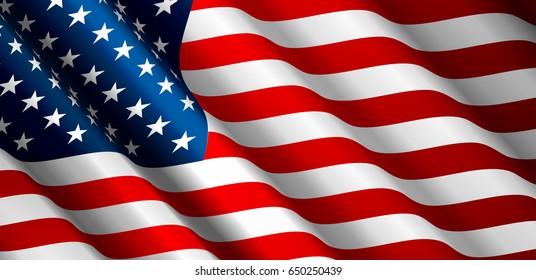 United States flagg vektor Nærbilde Illustrasjon