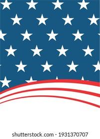United States Flag Vector - Editable flag