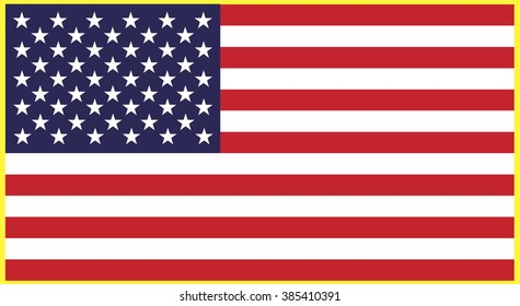 United States flag. Vector illustration