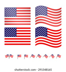 United States Flags 2 EPS10