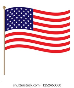 United States flowing flag graphic design