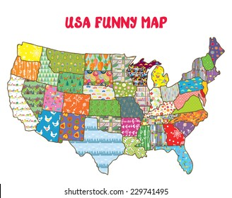 America Map Kids Images, Stock Photos & Vectors | Shutterstock