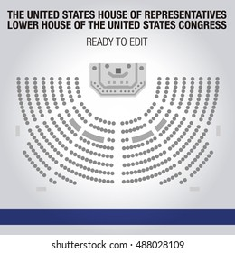 United States House of Representatives. Lower house of the United States Congress. Editable seats.
