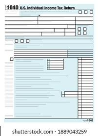 United States Individual Income Tax Return Form Illustration Vector