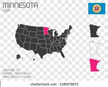 United States Infographic with information for the State of Minnesota