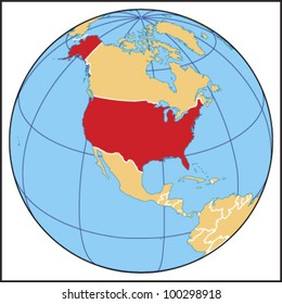 Us Map Globe.United States Globe Images Stock Photos Vectors Shutterstock