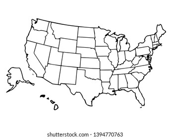 Imágenes, fotos de stock y vectores sobre Map United States ...