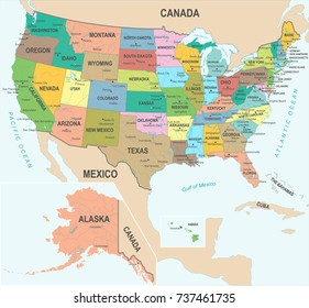 United States Canada Map Images, Stock Photos & Vectors | Shutterstock