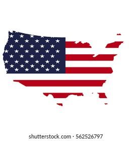 United States map flag