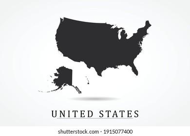 United states Map on white background - Vector illustration eps 10