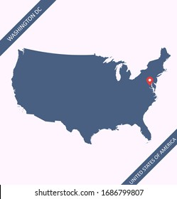 United States map vector outlines