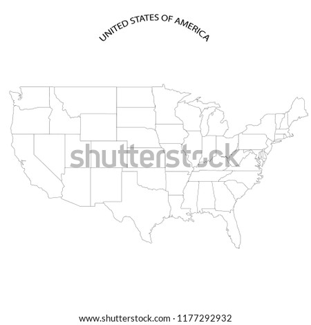 United States Map Without State Names Stock Vector (Royalty Free ...