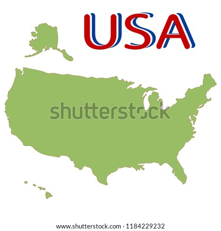 United States North America Map USA Stock Vector (Royalty Free ...
