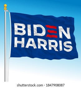 United States, November year 2020 - US presidential elections 2020, flag  of Joe Biden electoral staff, vector illustration