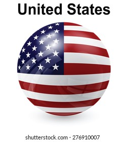 United States official flag, button ball
