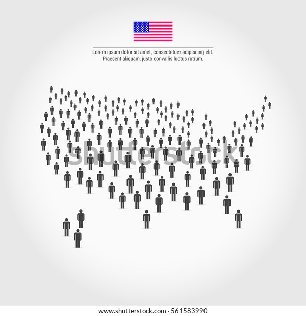 United States People Map Large Group Stock Vector (Royalty ... on east coast map, great lakes map, nevada map, the us map, florida map, caribbean map, the world map, mississippi map, blank map, us state map, 13 colonies map, arkansas map, africa map, missouri map, europe map, canada map, mexico map, full size us map, tennessee map, texas map,