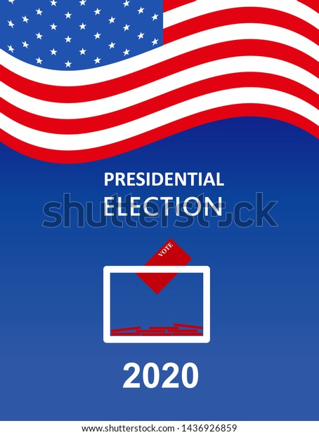 United States Presidential Election 2020 Vector Stock Vector Royalty Free 1436926859