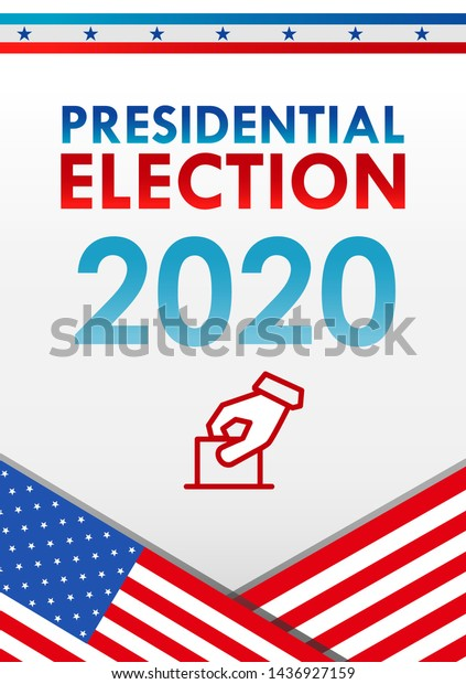 United States Presidential Election 2020 Vector Stock Vector Royalty Free 1436927159