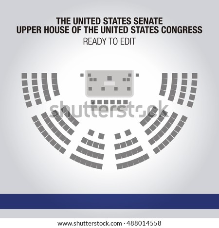 United States Senate Upper House United Stock Vector ...