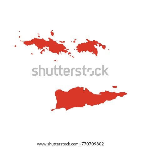 United States Virgin Islands Known USVI Stock Vector (Royalty Free ...