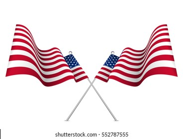 647da78a2b27 Usa Flag Shaded Waving United States Stock Vector (Royalty Free ...