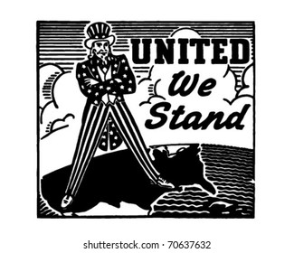 United We Stand - Uncle Sam - Retro Ad Art Banner