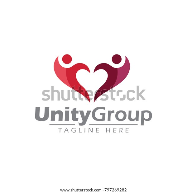 Unity Business Logo Stock Vector (Royalty Free) 797269282