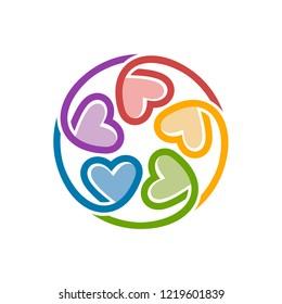 Unity Love Logo Design Template
