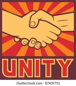 unity poster (handshake)