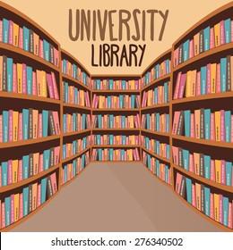 Univercity Library Vector Illustration