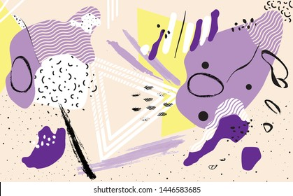 Universal Abstract Background. Hand Drawn Pattern. Vector illustration