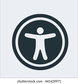 Universal access icon.disabled access icon,vector illustration