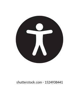 Universal accessibility sign. vector illustration