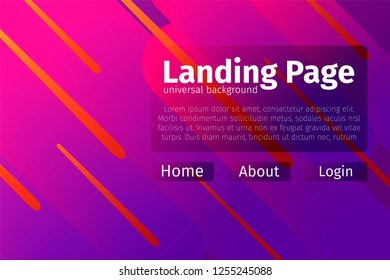 Universal asbtract background design. Landing page template.