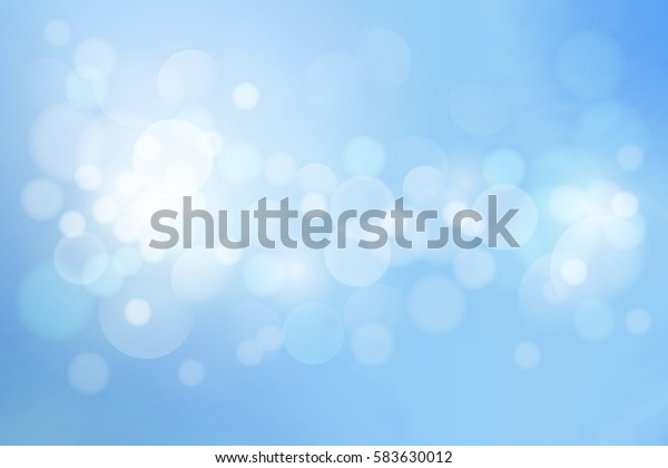 Universal blue abstract blurred background, bokeh with round lights. Vector illustration.