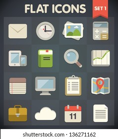 Universal Flat Icons for Web and Mobile Applications Set 1