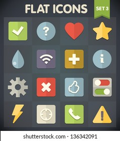 Universal Flat Icons for Web and Mobile Applications Set 3